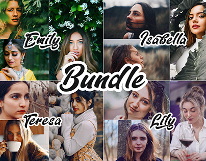 Photoshop Actions April Bundle 4 IN 1