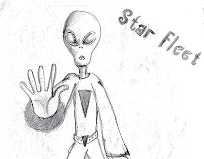 Star Fleet Sketch