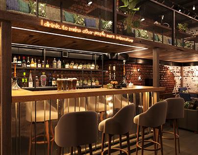 Cafe Luxury loft-style