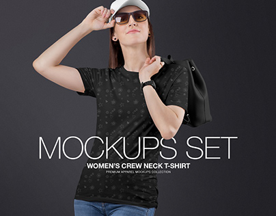 Women's Crew Neck Shirt Mockups Set