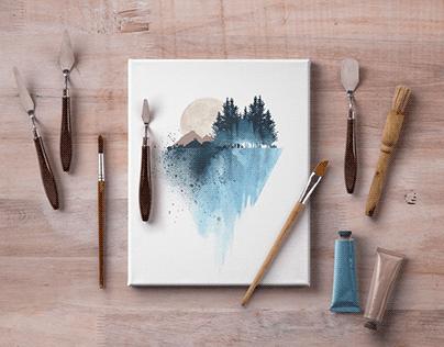 40+ Elegant Canvas Mockup Templates for Art Presentatio
