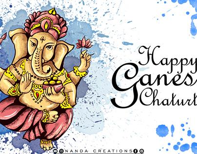 Ganesh chaturthi drawing | ganesh digital painting