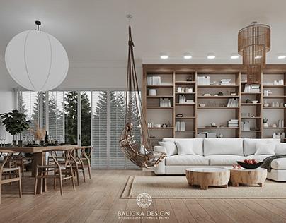 Modern, bright & spacious living room