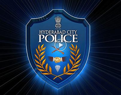 Hyderabad City Police Department Logo Animation