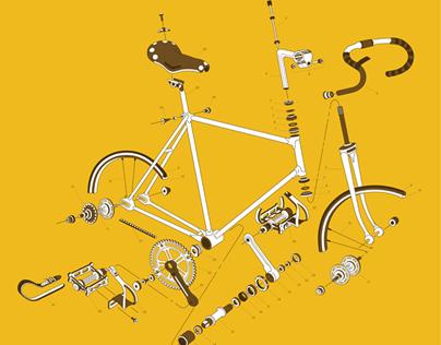 Track Bike Poster