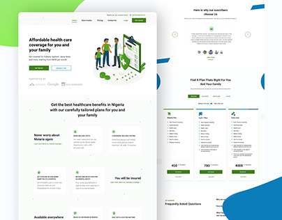 HealthCare Landing page design