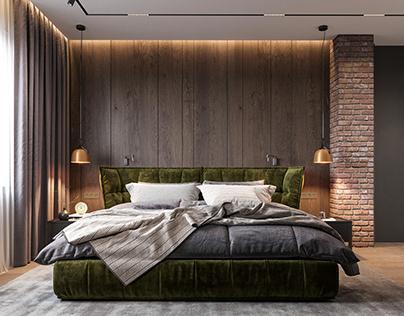 Design project apartments in St. Petersburg. (bedroom)
