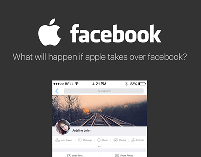 Apple + Facebook Design Concept