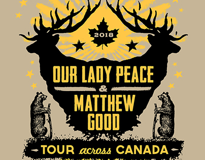 Our Lady Peace / Matthew Good Official Tour Poster