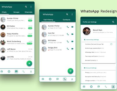 WhatsApp Redesign | UI/UX Redesign
