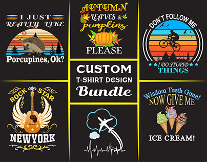 There are custom T-shirt Bundle Designs.