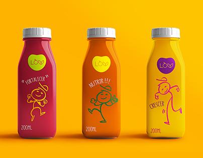 LOV Kids Juice : Branding and Packaging