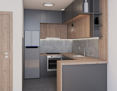 Kitchen for apartment in Nis, Serbia