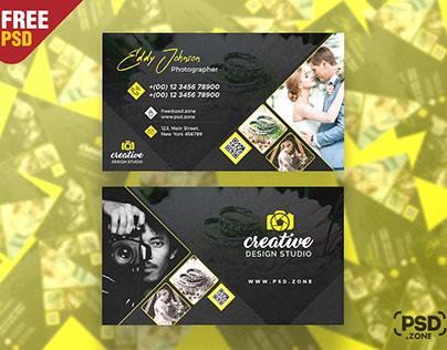 Best Photographer Business Card Design PSD
