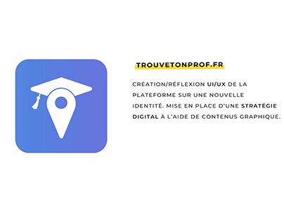 TrouveTonProf.fr - Plateforme Mobile et Web Site