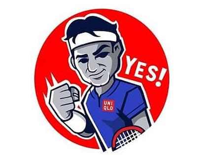 FB sticker pack for Roger Federer / Team 8 Agency
