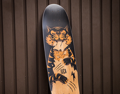Longboard Illustration / Luca Longboards