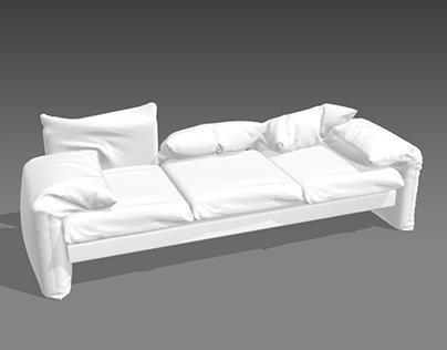 modeling furniture by 3d max and marvelous designer