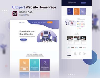 UiExpert Website Home Page [Free Download]