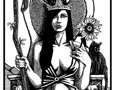 Bianco Nero Tarot: Minor Arcana Wands