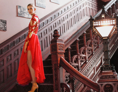 Nature's Radiance - Red Embriodered Dress
