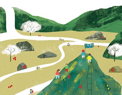 Illustrations for School of Well-Raised Money