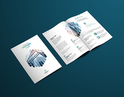 Annual Report Bi-fold Brochure Design