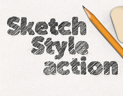 Sketch Style Action - Photoshop add-on