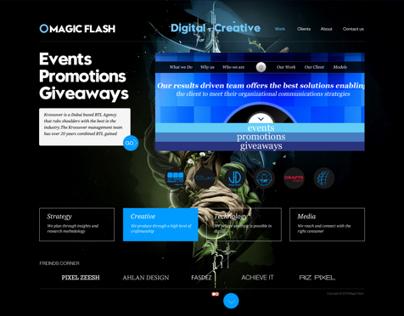 Magic Flash website design