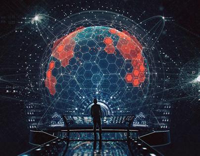 SCI-FI Futuristic Computer / UI Concept Art
