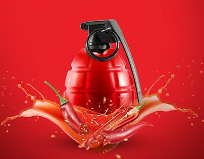 Hot Sauce Grenade