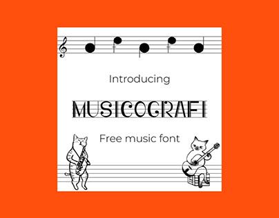 Musicografi Free Music Font