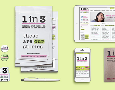 1 in 3 Campaign | Branding, Website, Collateral
