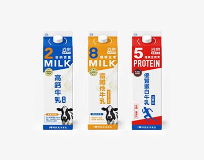 光泉營養牛乳系列包裝設計 (高鈣牛乳/富維他牛乳/優質蛋白牛乳)