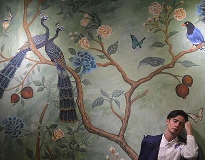 城市草倉 店內壁畫設計 C-tea loft mural design