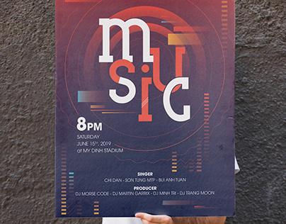 Poster Music Typor