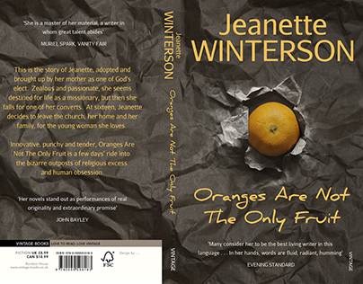 Book Cover re-design: 'Oranges are not the only fruit'