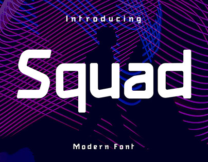 | Font | Squad - Rectangular Techno | Commercial Use