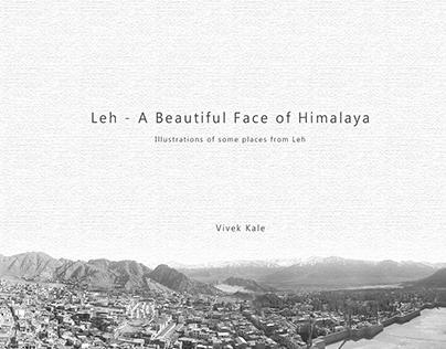 Leh - A Beautiful Face of Himalaya | Illustrations