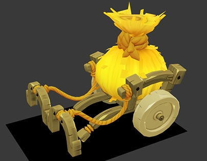 Some lowpoly props for Dofus 3D (Ankama)