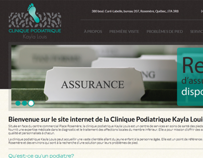 Site web / Website - Clinique podiatrique Kayla Louis