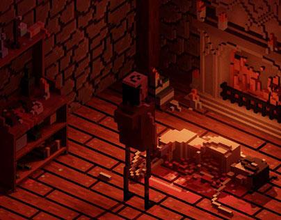 Dark Rituals - voxel scene