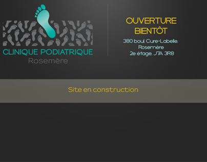 Page construction - Clinique Podiatrique Kayla Louis