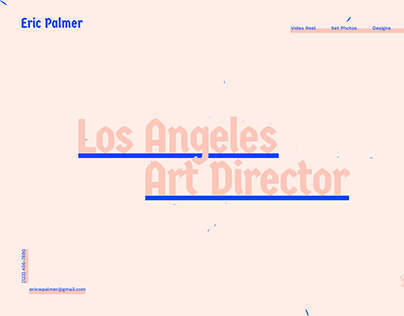Los Angeles Art Director Website