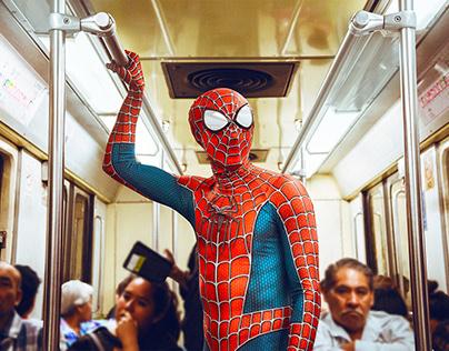 Spiderman en la Ciudad de México