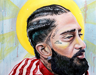 Nipsey Hussle Oil Painting