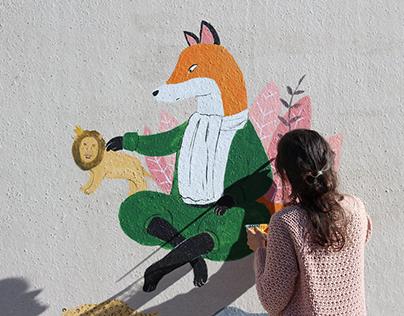 """Mural para """"Una habitació pròpia"""""""
