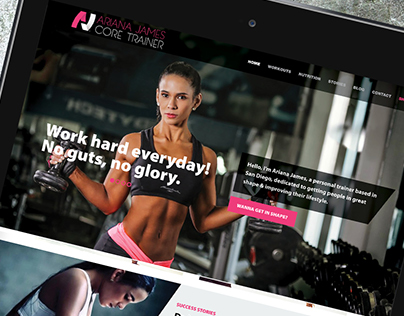 Logo, web and franchising Ariana James Core Trainer