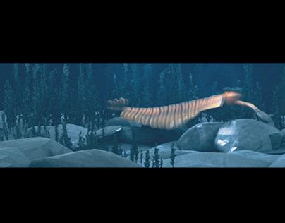 Анимация 3D скана Опабинии для Дарвиновского музея