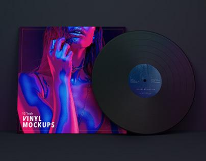 "Free 12"" Vinyl Mockups"